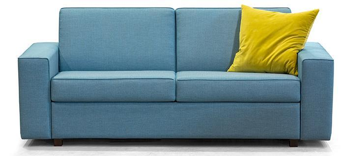 Chic blue sofa bed by Ital Divani - completely customizable and perfect for condo living