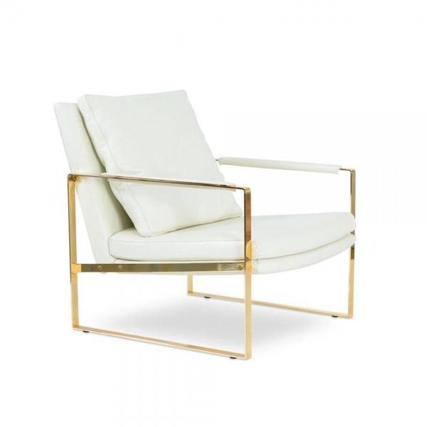 Zara Gold Frame Chair Bayside Furniture